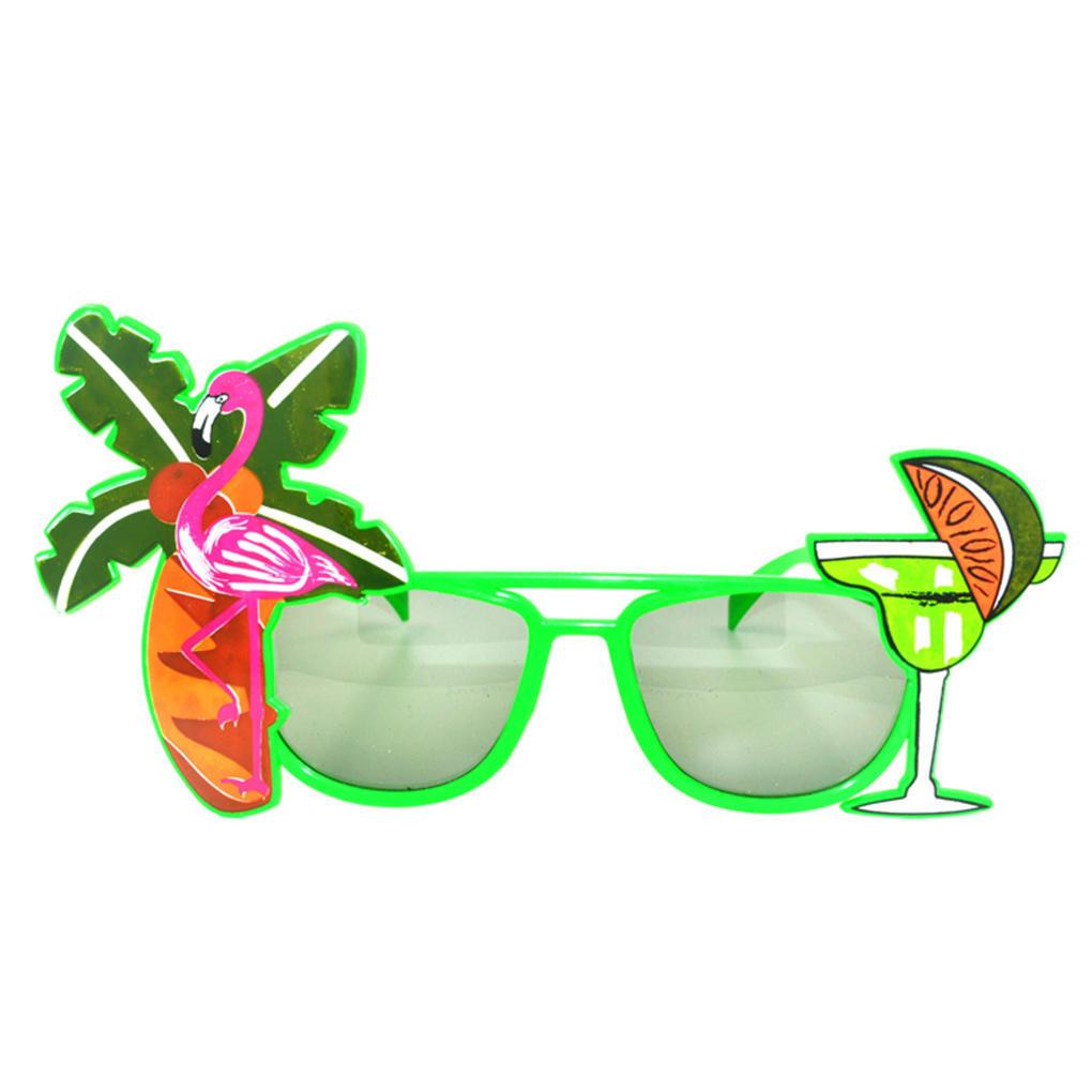 Neuheit Hawaii Beach Sonnenbrille Lemon Coconut Tree Flamingo ...