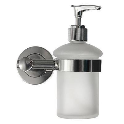 Pared del baño montar helado vidrio champú dispensador de jabón líquido y  soporte cromo 134061390660