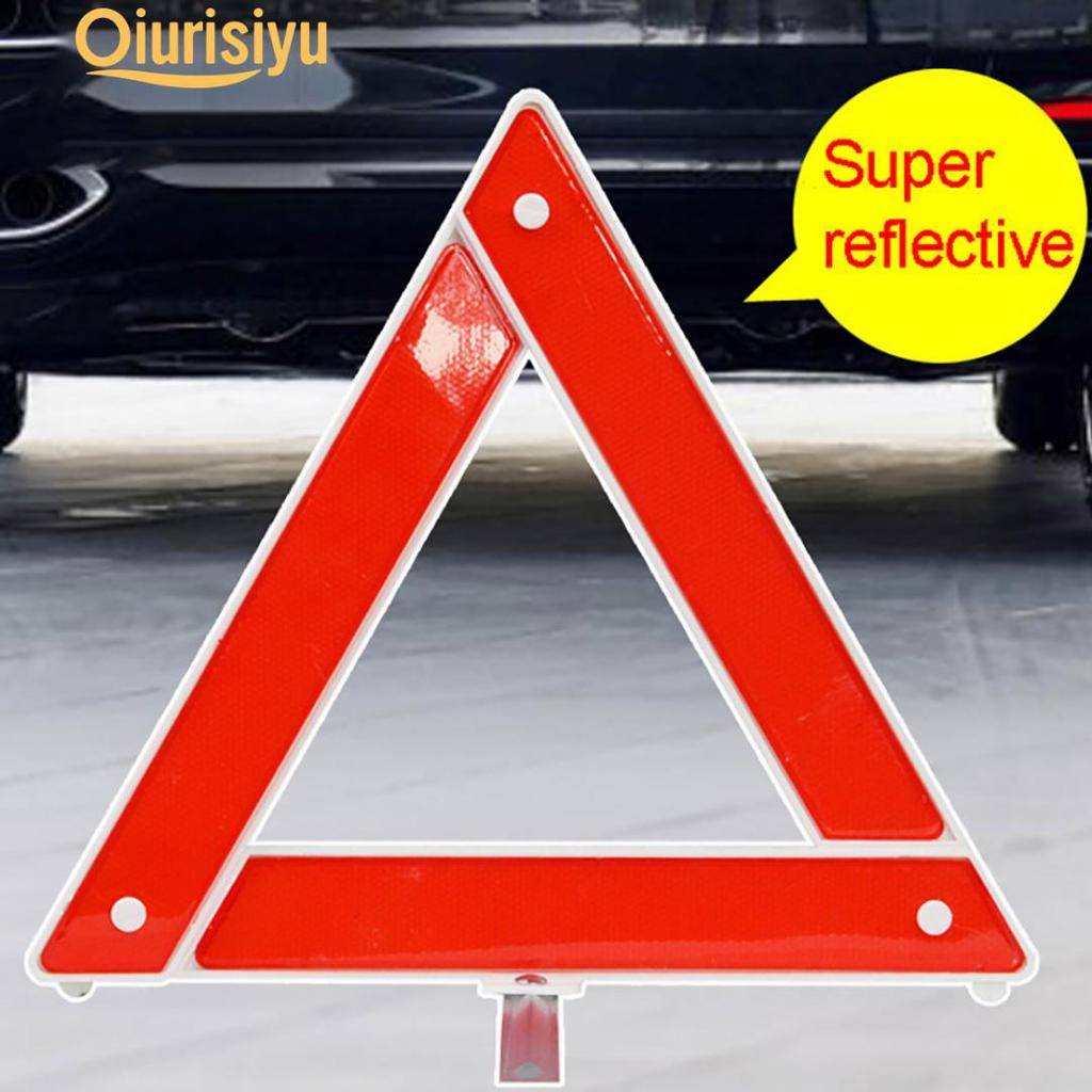 4X REFLECTIVE WARNING SIGN FORDABLE TRIANGLE CAR HAZARD BREAKDOWN EU EMERGENCY