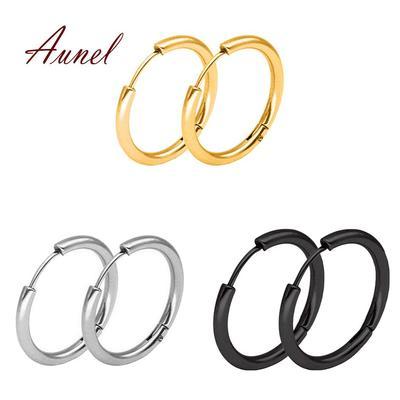 Ling Studs Earrings Hypoallergenic Cartilage Ear Piercing Simple Fashion Earrings Ear Jewelry Sterling Silver Long Circle Tassel Pendant Earrings Earrings