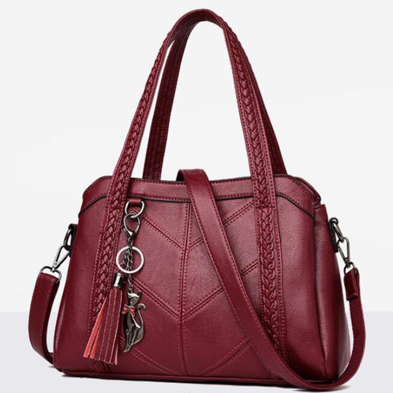 Мода плече сумка для женщин Посланник сумки дамы ретро Пу кожаная сумочка Кошелек с кистями – купить по низким ценам в интернет-магазине Joom