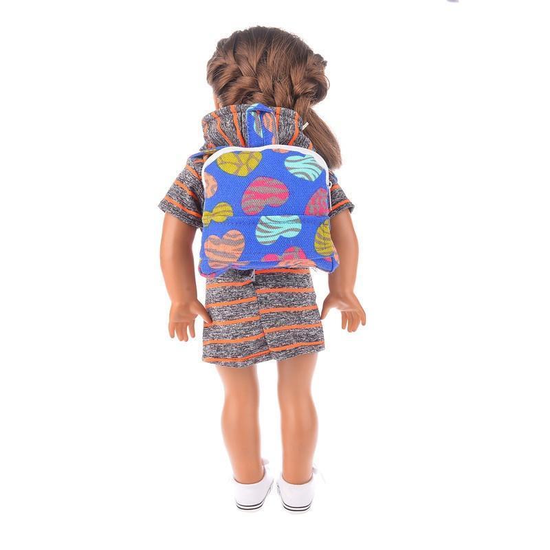 Mode Rucksack Schulsachen für American Girl Puppe 18\