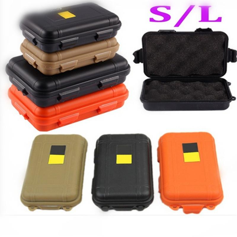 Beige Outdoor Camping Tactical Dry Box Container Shockproof Waterproof Gear Tool Storage Box