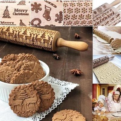 Haute Qualité Embossing Rolling Pin-cuisson cookies Noodle Biscuit Fondant Gâteau