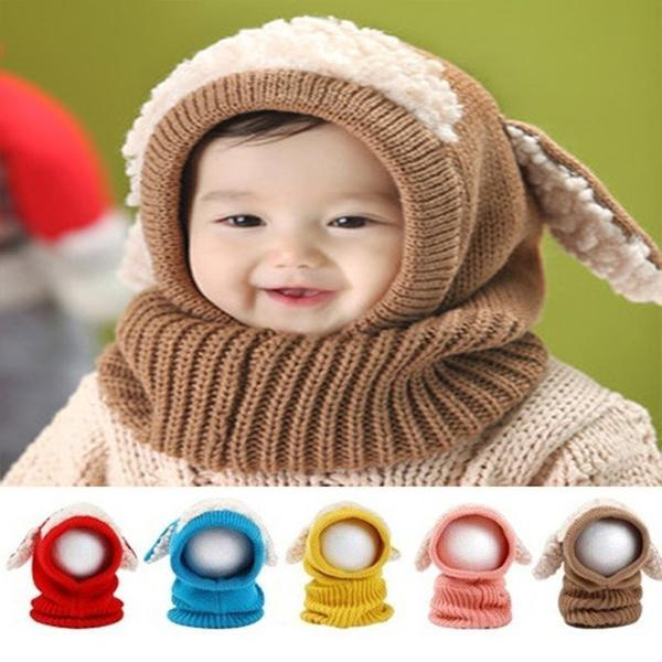 Navidad regalo siamés con capucha bufanda Earflap ganchillo punto ...