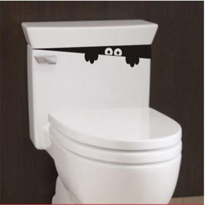10pcs DIY Funny Peek Monster Toilet Seat Bathroom Wall Sticker Car Decal