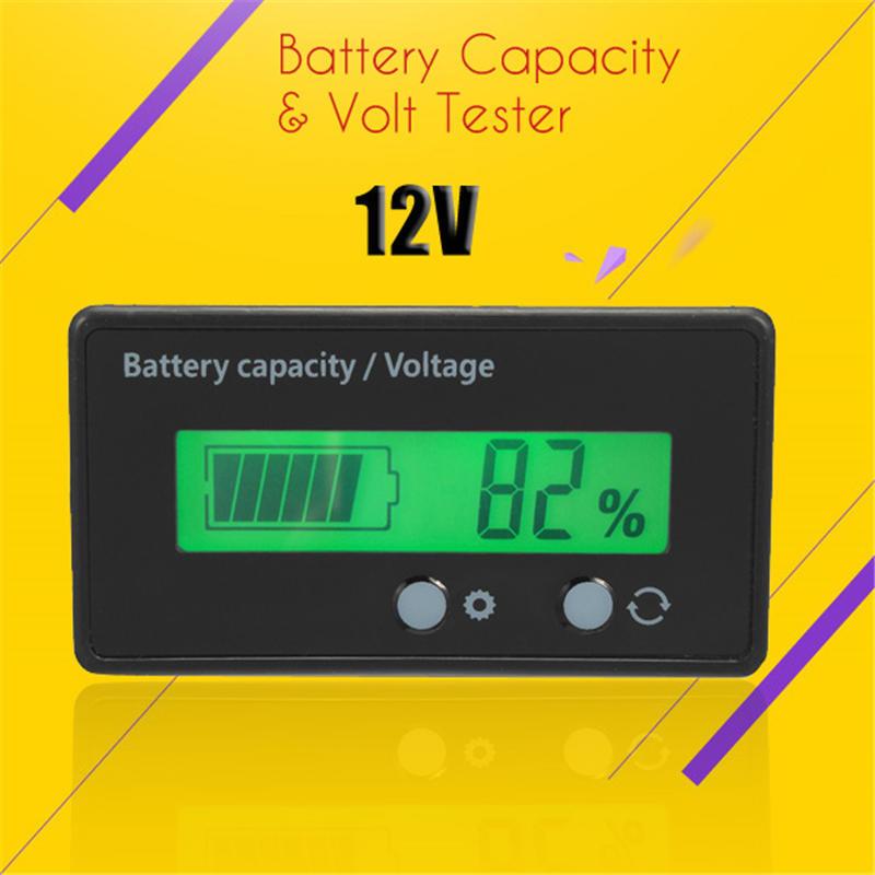 IMPERMEABILE 12V//24V//36V//48V PIOMBO. Capacità della batteria LCD monitor Misuratore Metro