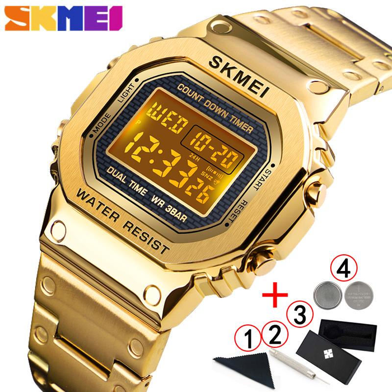 Skmei Fashion Electronic Digital Watch Couple Watches For Lovers Golden Watch Men Sport Gold Male Wristwatch Buy At A Low Prices On Joom E Commerce Platform