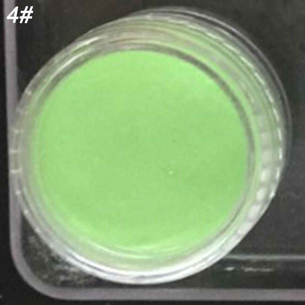 Neón colores polvo fluorescente fosforescente Glow In Dark uñas ...