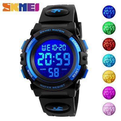 Kids Digital Wristwatches Children Watch Calendar LED Luminous 5Bar Waterproof Sport Watches For Boys Girls 1266