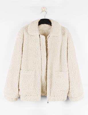 Жінки мода довгим рукавом Faux баранчик після першої стрижки жакет зимових  лацкан негабаритних теплий пальто 927e8cff03c3b
