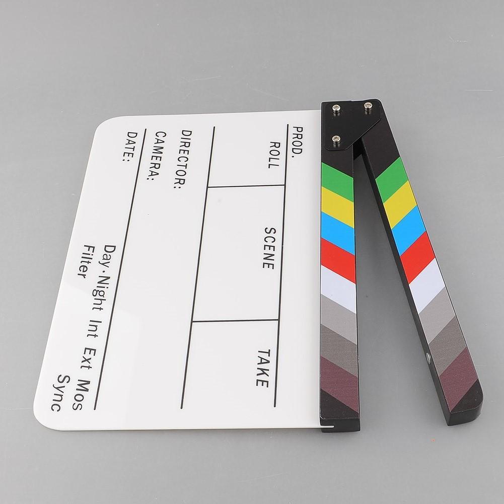 Tablero Pizarra Para Tv Peli película blanco y negro//alta Calidad Negro y Blanco Acry