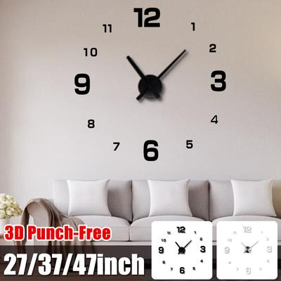 Diy Household Silent Large Wall Clock 3d Stickers Living Room Decoration Buy At A Low Prices On Joom E Commerce Platform