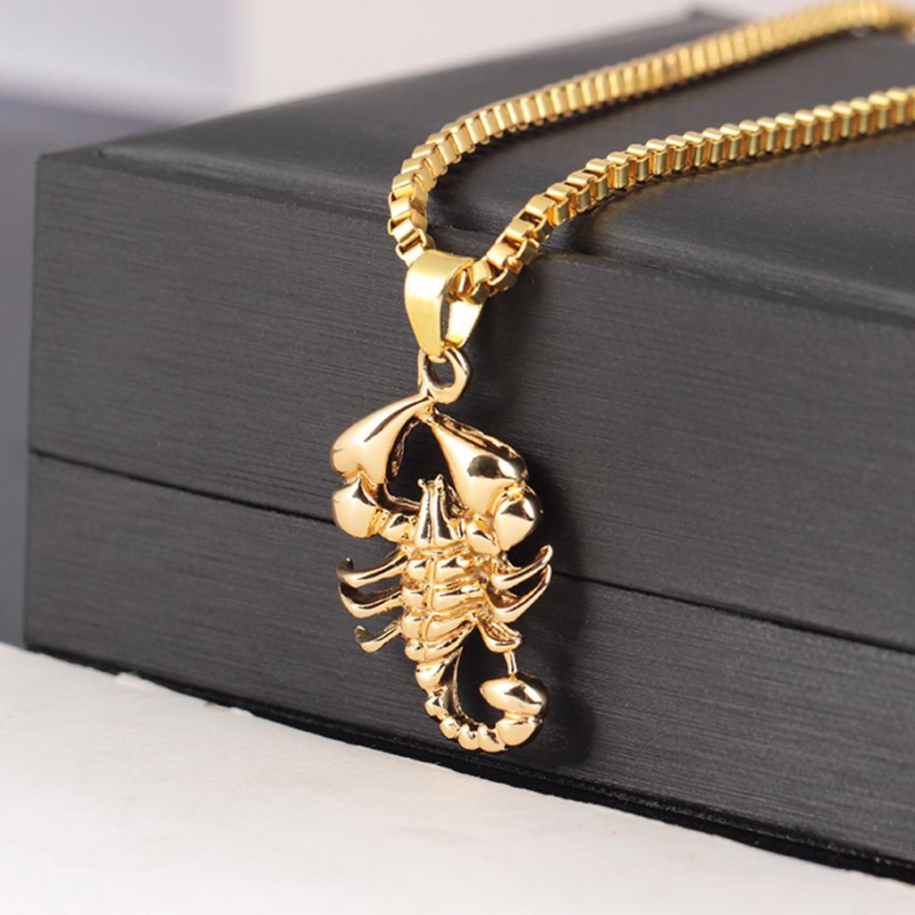 Animal Neutral Sweater Chain Long Necklace Gold Plating Lion Necklace Pendant