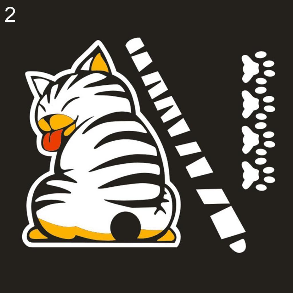 Lustige Comic-Katze bewegen Heck Aufkleber Fahrzeug Auto ...