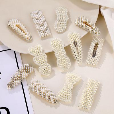 12 Style Fashion Pearl Hairpin Women Alloy Elegant Hairpin Girl Hair Accessories Gift
