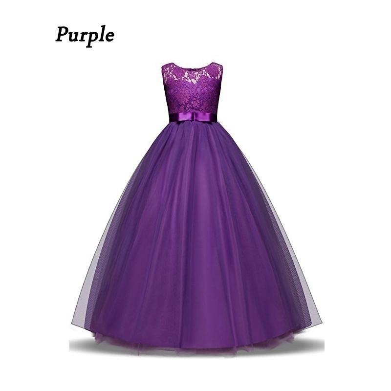 Chica vestido niños volantes encaje Vestidos para niñas princesa ...