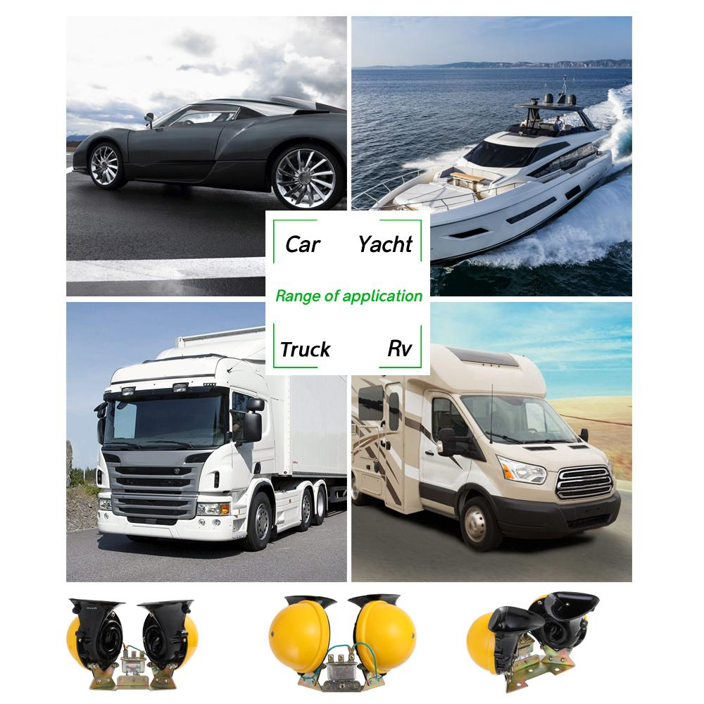 car horn with compressor boat truck Audew 120DB 12V air horn for car
