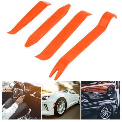 4 pcs Plastic Radio Door Clip Panel Trim Dashboard Auto Audio Pry Refit Set Car Removal Tool