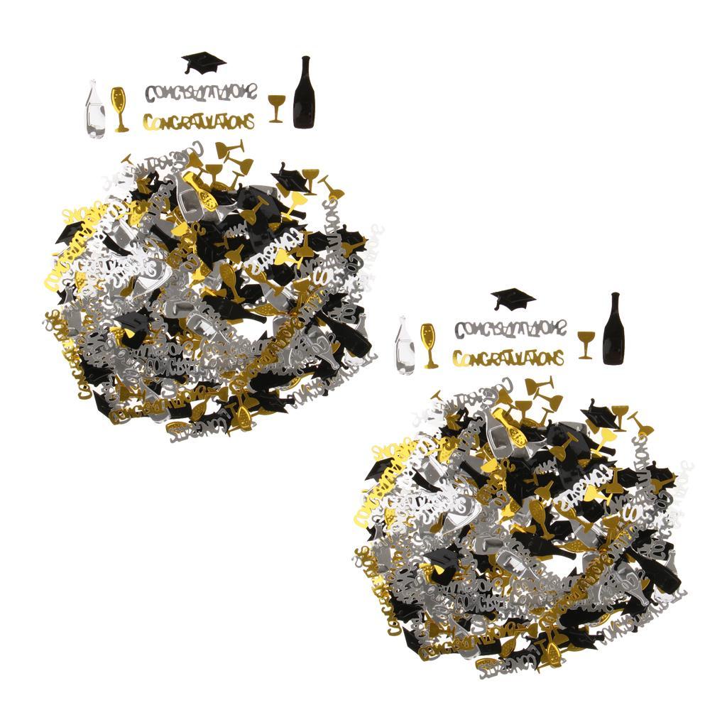 Graduation Champagne Cup Confetti Sparkly Table Confetti Party Accessories