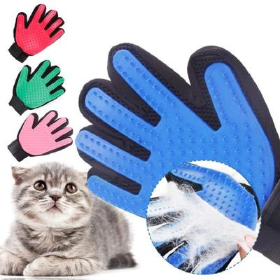 Pet Dog Cleaning Glove Cat Cleaning Brush Finger Silicone Glove for Dog Scrub Bath Clean Pet Supply