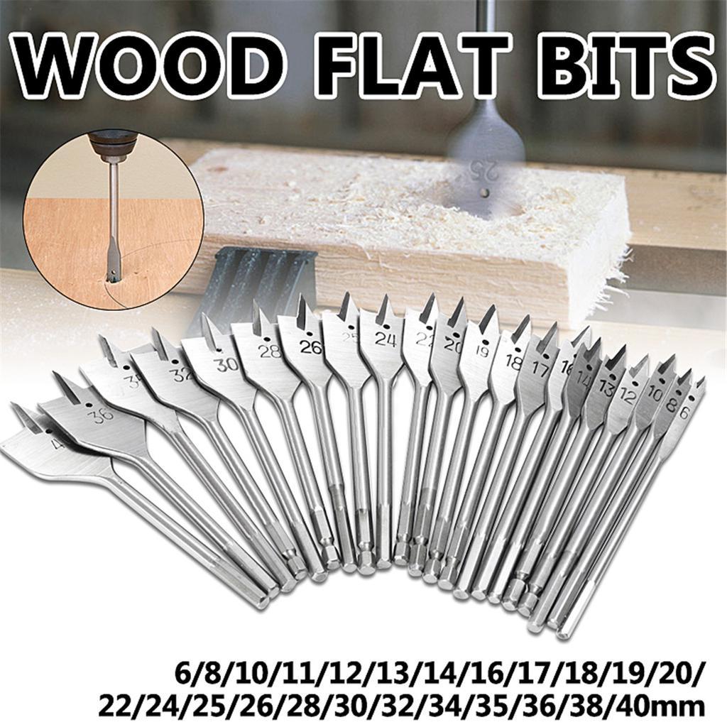 "13pcs 1//4/"" Handle Woodwork Flat Drill Bit Set Hole Saw Opener Bench Drill Tools"