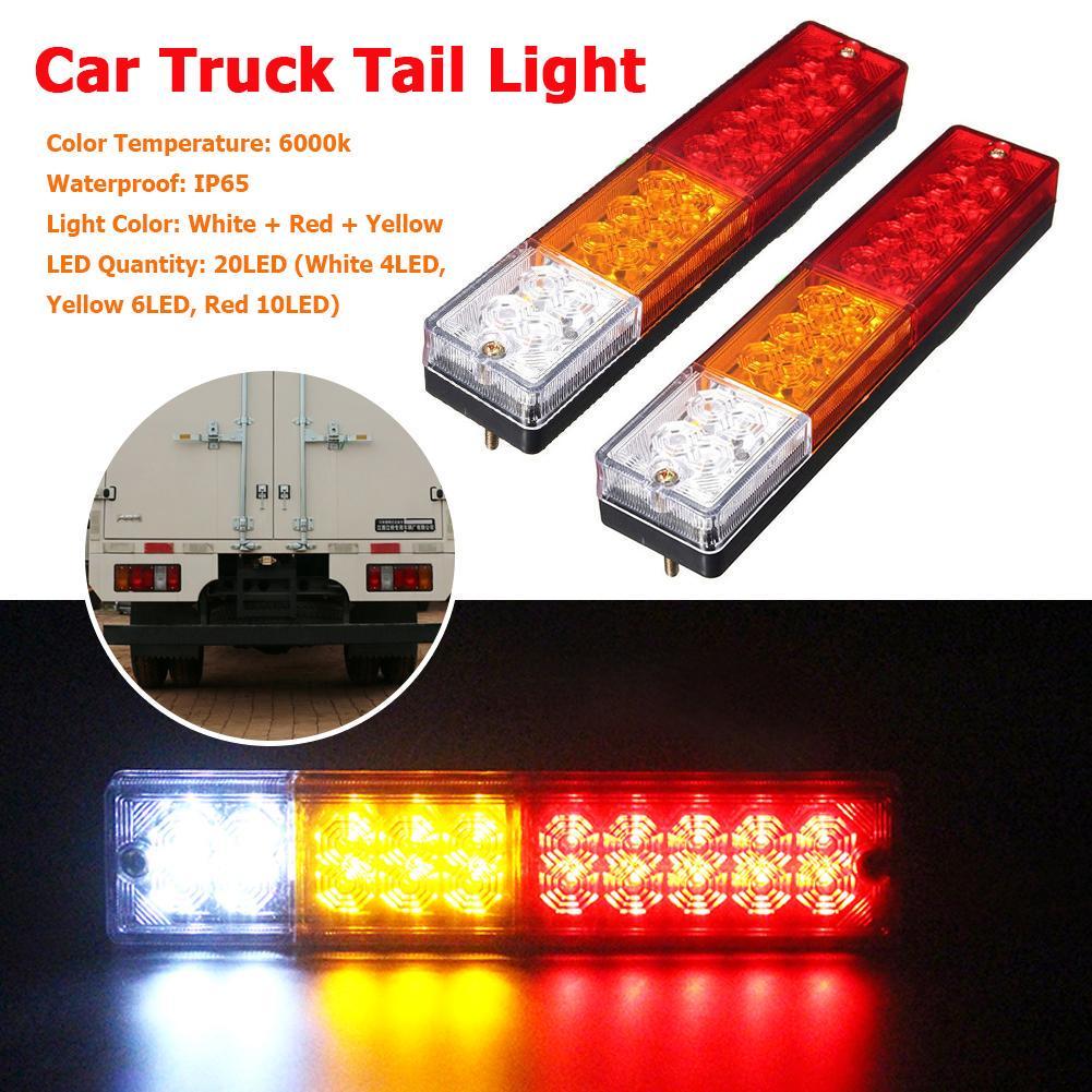 2x 12V 10 LED IP65 Rear Brake Stop Indicator Light Tail Lamp Trailer Truck