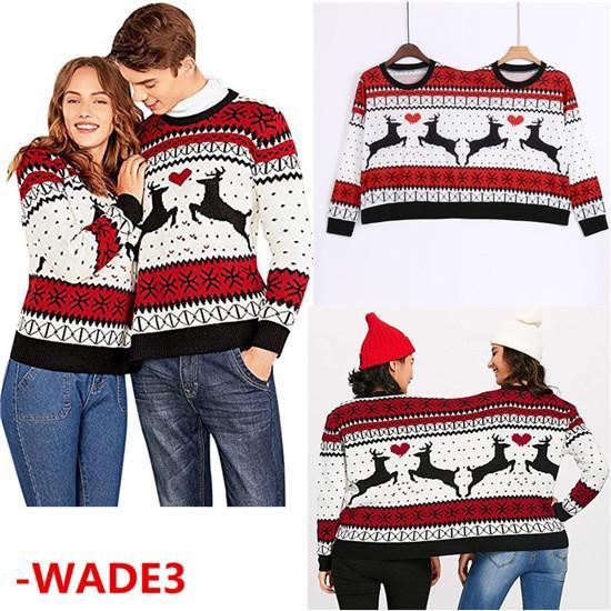 de vanzare frumos ieftin stiluri proaspete Doua persoane urât pulover Xmas cupluri pulover noutate Crăciun ...