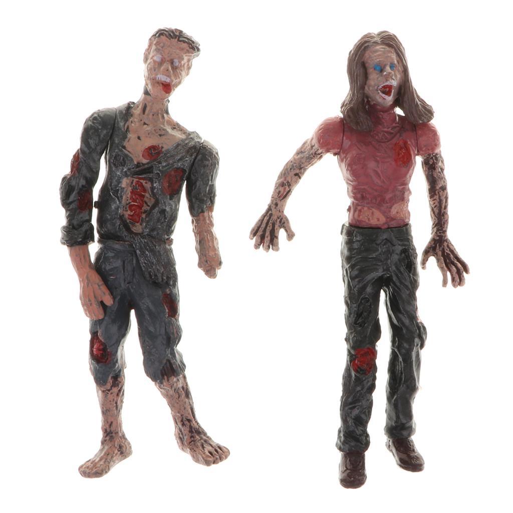 6x The Walking Dead Figuren Zombie Action Sammler Mini Serie Film Figur Horror