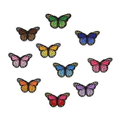 Mariposa encaje parches bordado boda apliques Trim ropa accesorios