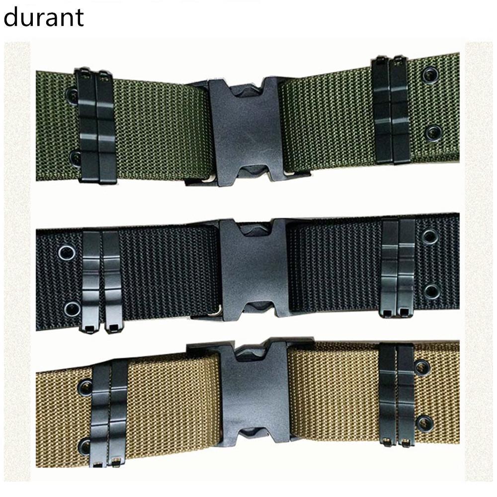 Mens Outdoor Sports Military Tactical Nylon Waistband Canvas Web Belt Adjustable