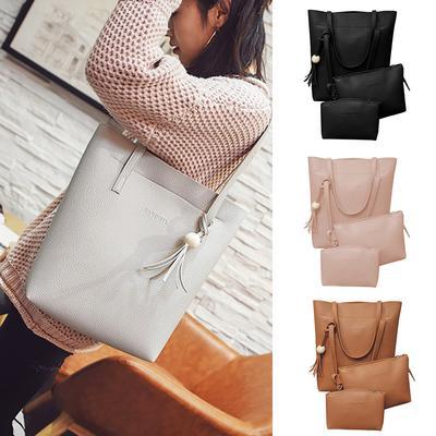 Suda Women Retro Tassels Leather Shoulder Crossbody Bag Clutch Wallet Handbags