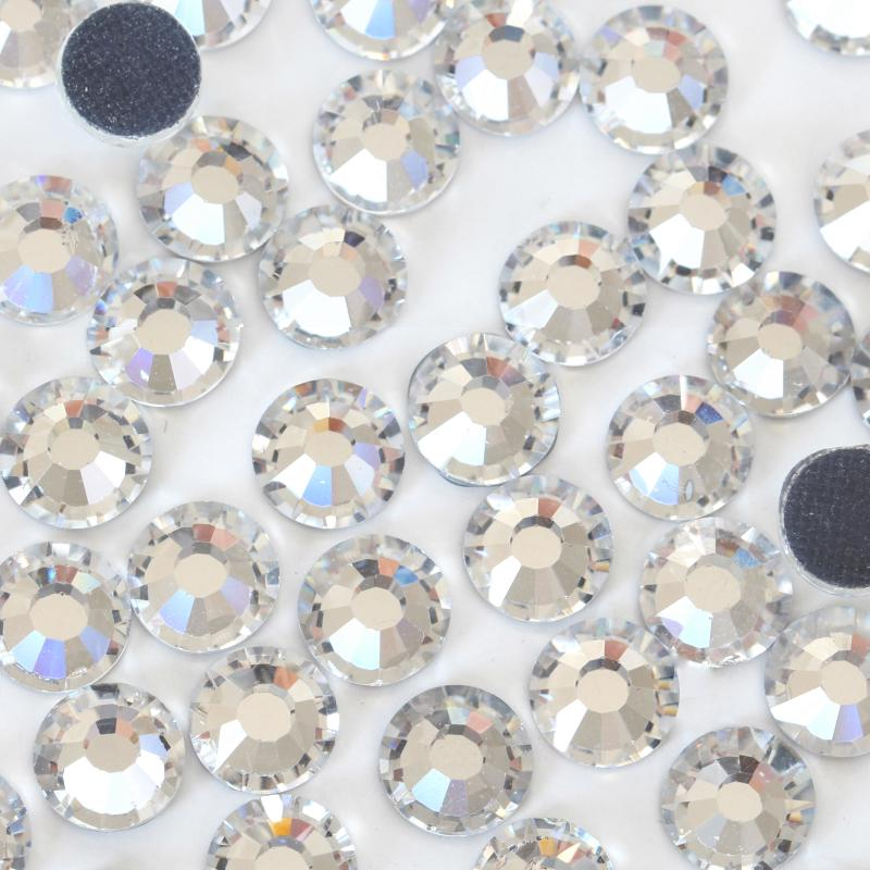 Shiny Clear Acrylic Silver Point back Rhinestone Confetti Table Scatter SS6-SS16