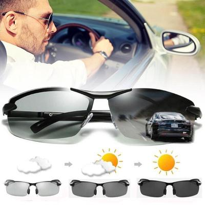 Fashion Outdoor Sports Driving Photochromic Polarized Men Sunglasses Len Goggles