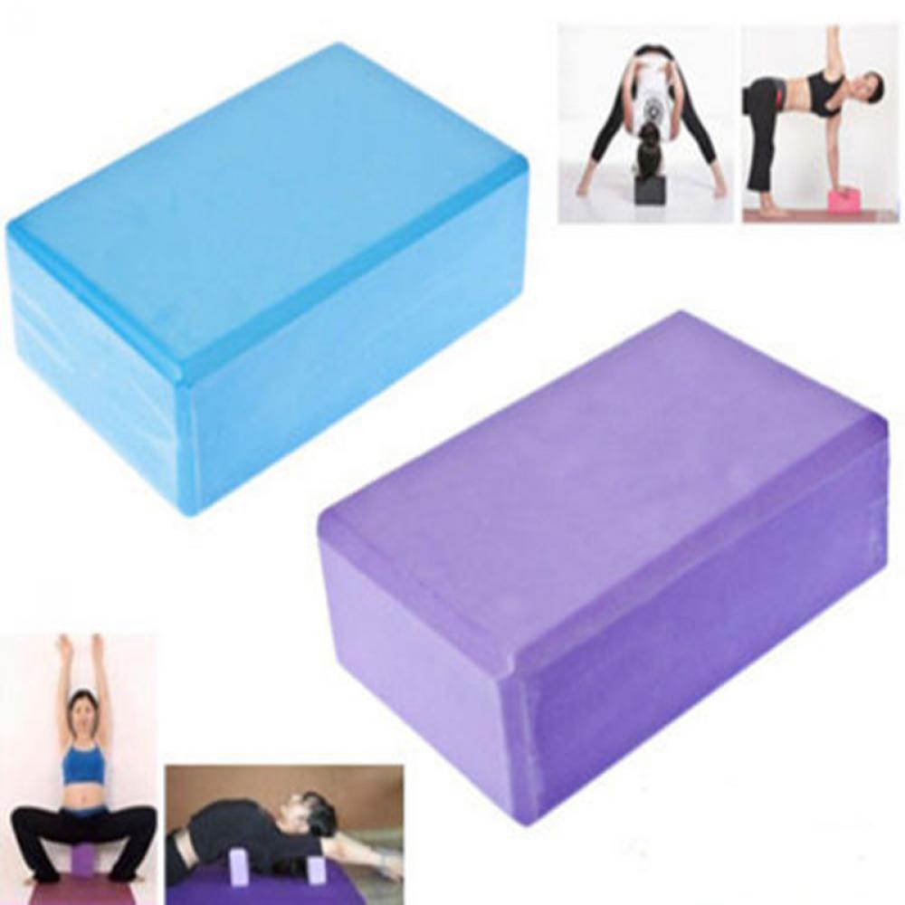 Health Fitness Pilates Home Physioroom Yoga Blocks 1 Foam Brick Exercise