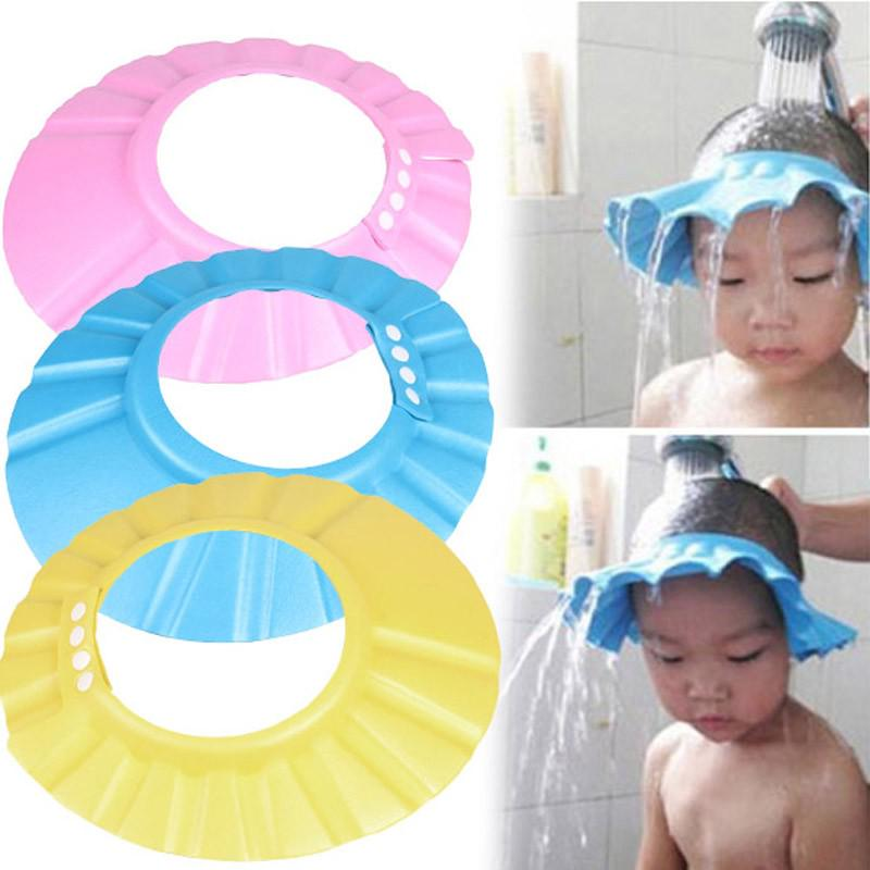 Baby Shower Adjustable Cap Children Shampoo Bath Wash Hair Shield Hat Bathing Baby Cap Buy At A Low Prices On Joom E Commerce Platform