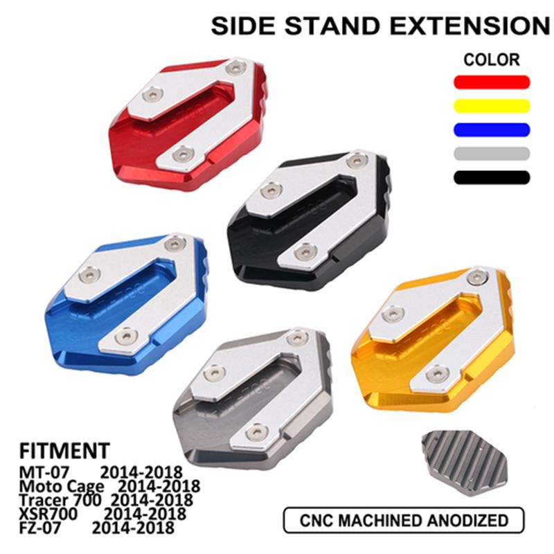 Cnc Kickstand Extension Plate Side Stand For Yamaha Mt 07 Fz 07 Sxr700 Motorcycle Accessories Buy At A Low Prices On Joom E Commerce Platform