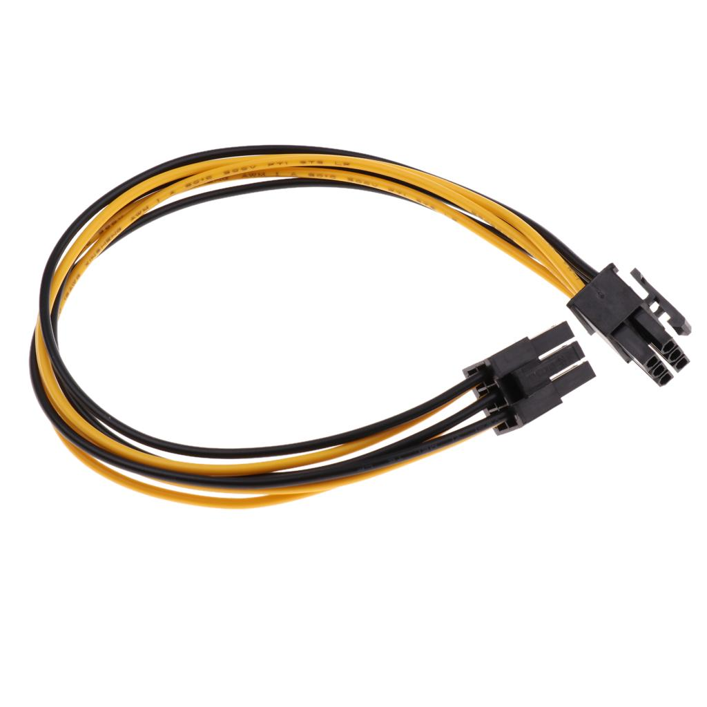 Computer Cables 6pcs SATA Power Cable for Riser Card 15 Pin to 6 Pin PCI Express PCI-E Sata Graphics Converter Adapter Video Card Power Cord Cable Length: 0.2m