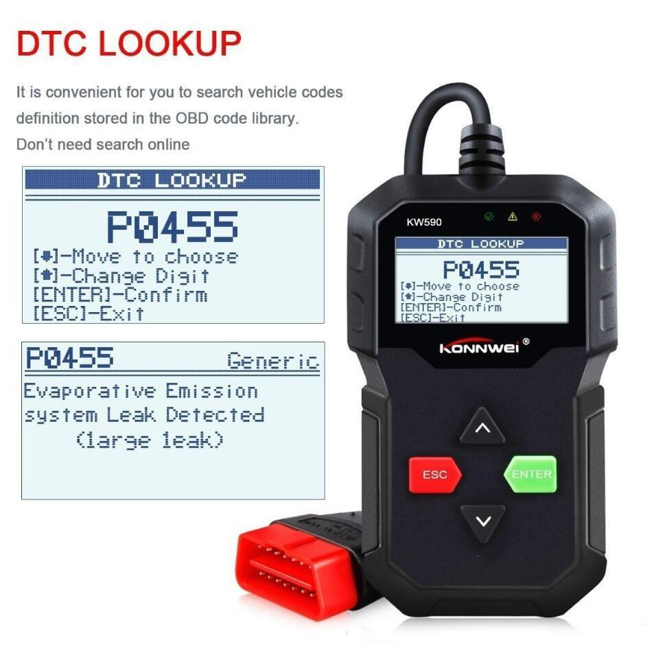 Tool konnwei kw590 OBD2 scanner car diagnostic code reader engine reset  scan tool