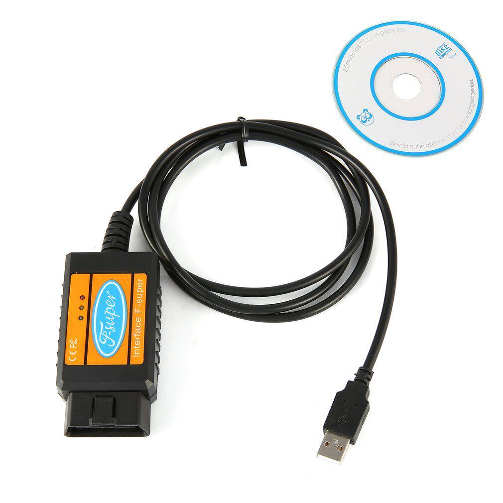 F-super OBD II Code Reader USB Scan Tool for Ford Gasoline & for Diesel Cars