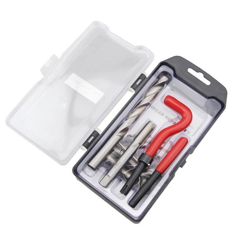 25pcs Thread Repair Insert Kit Drill Bit Break Pin Tool Twist Key Hex M6x1.0