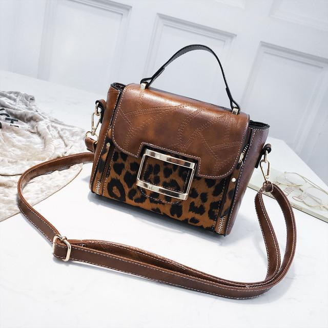 46bc0dda8 JI HAO moda hombro bandolera PU bolsas de cuero bolsa para mujeres mujer  leopardo bandolera monederos - comprar a precios bajos en la tienda en  línea Joom