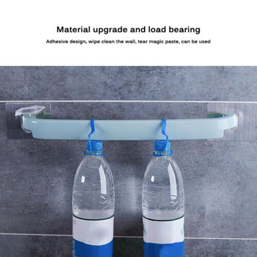 Towel Rail Rack Holder Self Adhesive Wall Mounted Bathroom Storage Shelf Hanger