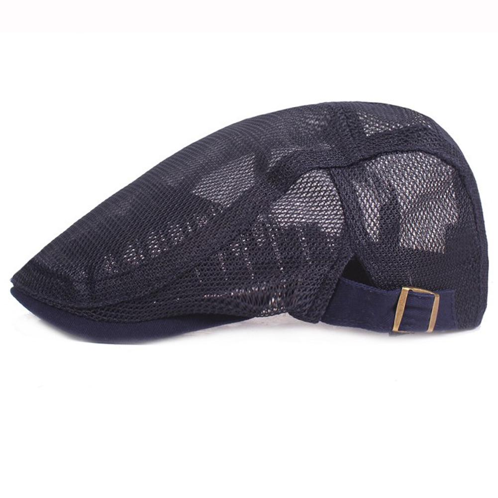 Women Hats Stylish Adjustable Newsboy Flat Caps Breathable Summer Mesh Beret Retro Ivy