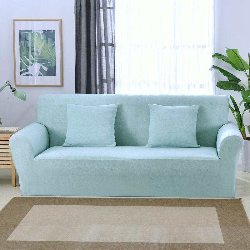 1 2 3 4 Seater Aqua Blue Sofa Cover Stretch Couch Slipcover Furniture Protector Home Decor Buy At A Low Prices On Joom E Commerce Platform