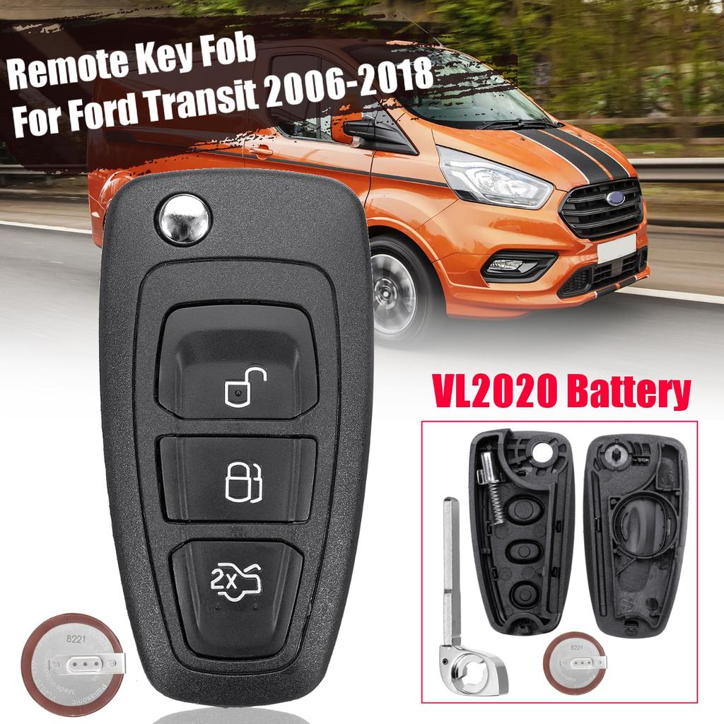 3 Buttons Remote Case Key Fob Vl2020 Battery For Ford Transit Custom 2006 Buy At A Low Prices On Joom E Commerce Platform