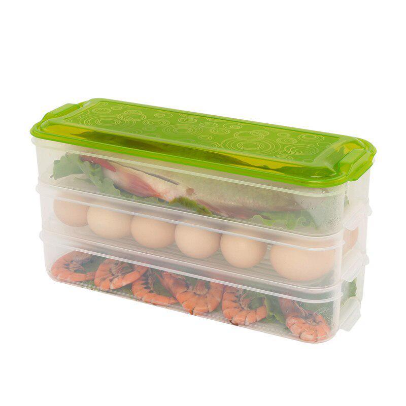 Bacs de rangement en plastique boîte de rangement réfrigérateur contenants de stockage de ...