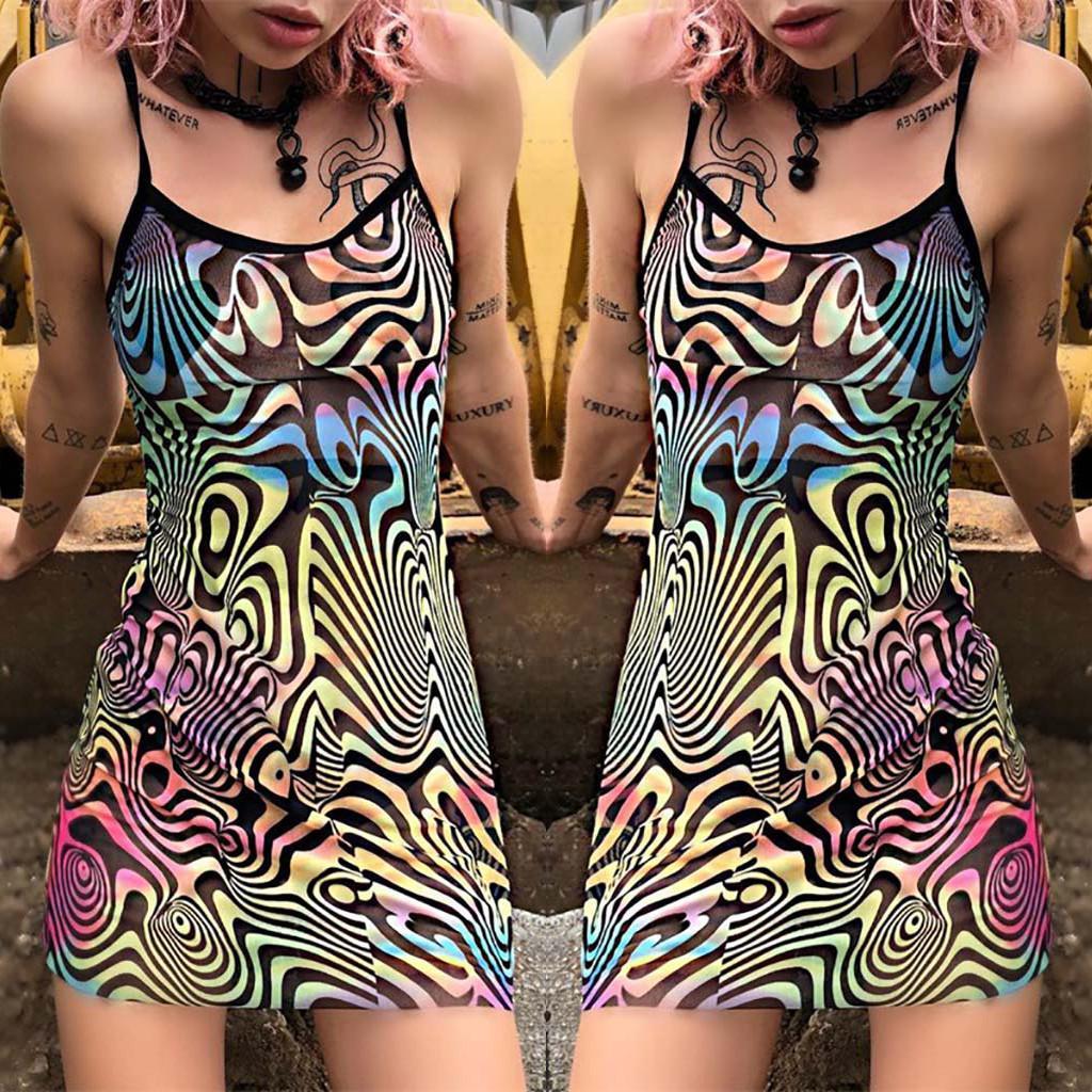 Старинные Boho женщин лето без рукавов пляж напечатаны короткие мини-платья – купить по низким ценам в интернет-магазине Joom