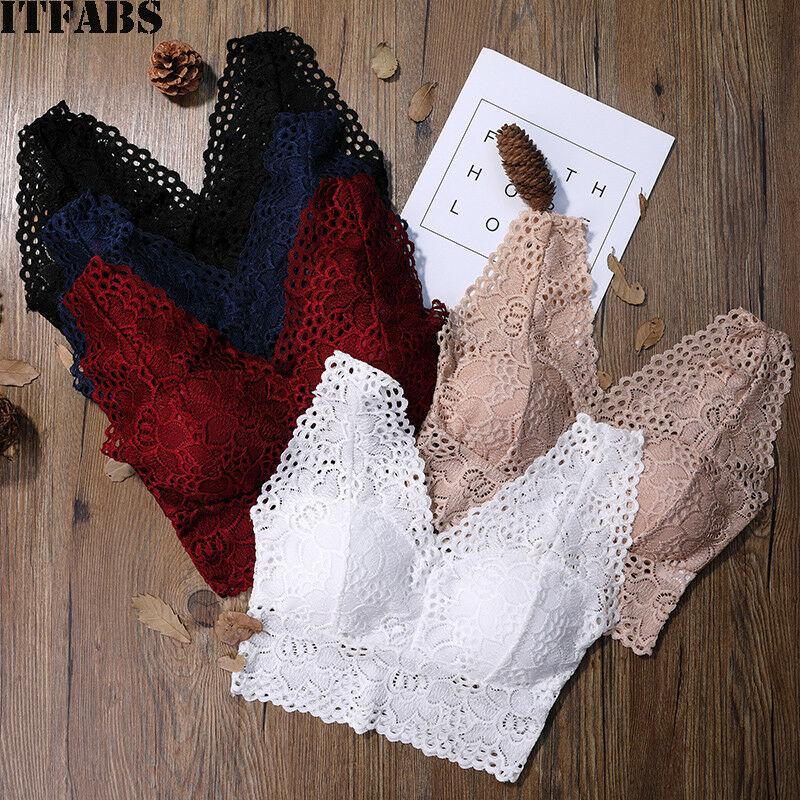 Женщины Сексуальные кружева crochet Твердые Bralette Bustier Кружевной Урожай Топ Bra бесшовные нижнее белье – купить по низким ценам в интернет-магазине Joom