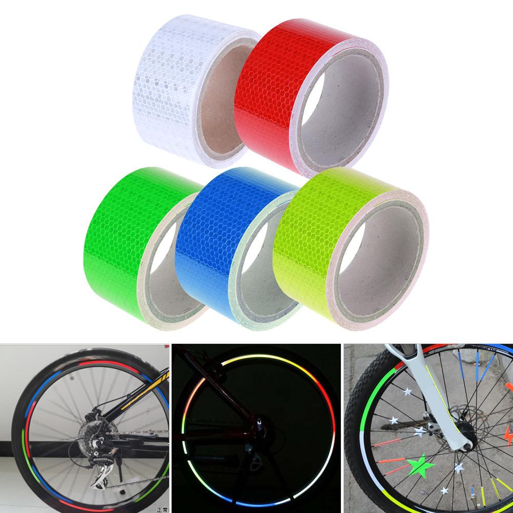 warning tape Wheel Rim Decal  Bike Reflective Stickers Cycling Accessories